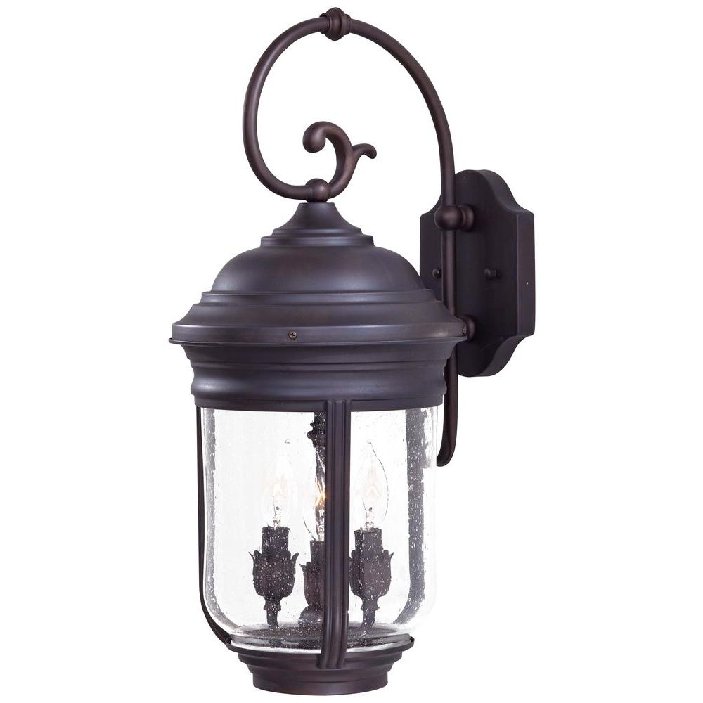 the great outdoors by Minka Lavery Amherst 3-Light Iron Oxide Outdoor