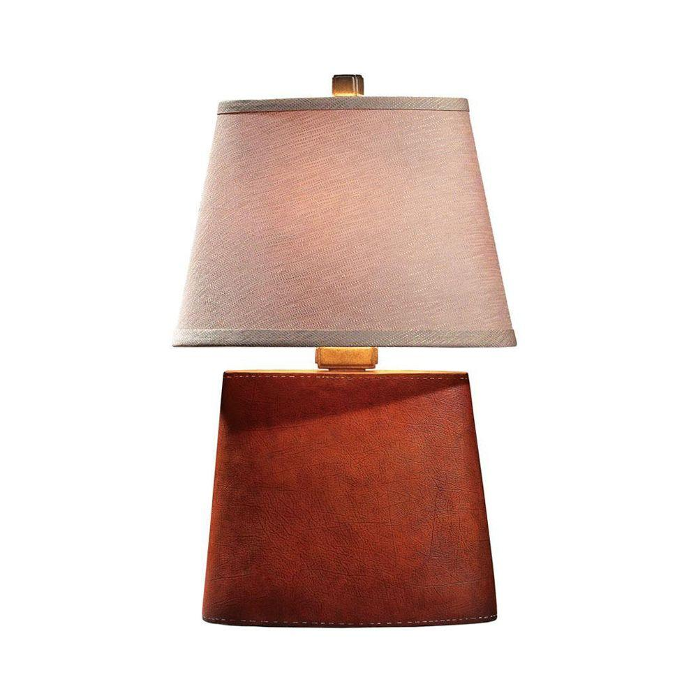 Home Decorators Collection Rustica 22 in. Antique Leather Phaedra Lamp -Discontinued