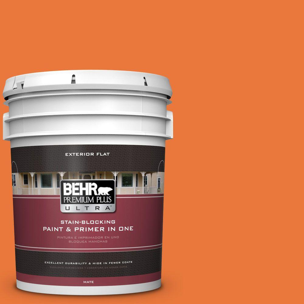 5-gal. #S-G-250 Solar Flare Flat Exterior Paint