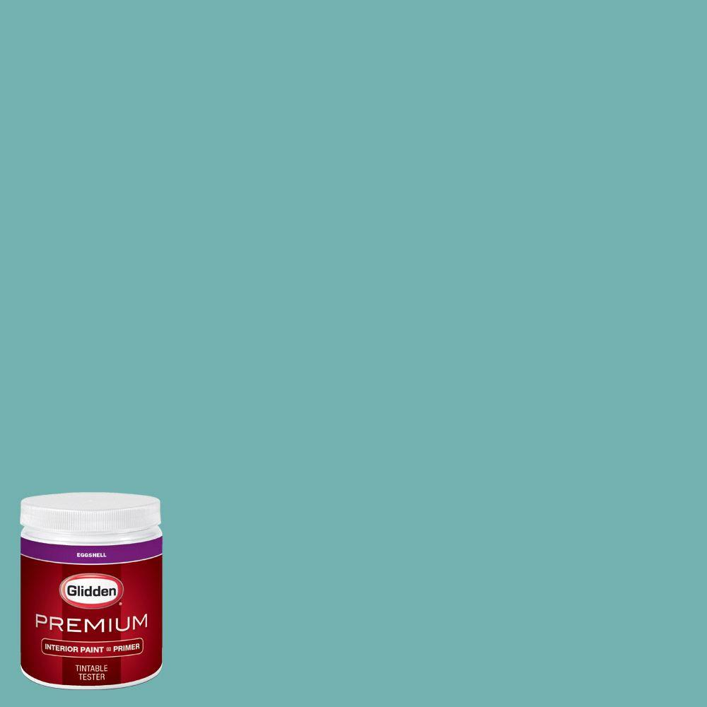8 oz. #HDGB21U Sea Of Turquoise Eggshell Interior Paint with Primer