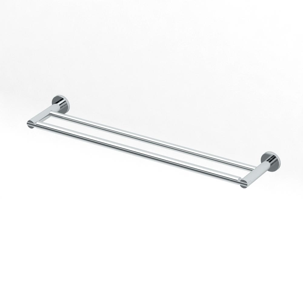 Gatco Channel 24 in. Double Towel Bar in Chrome