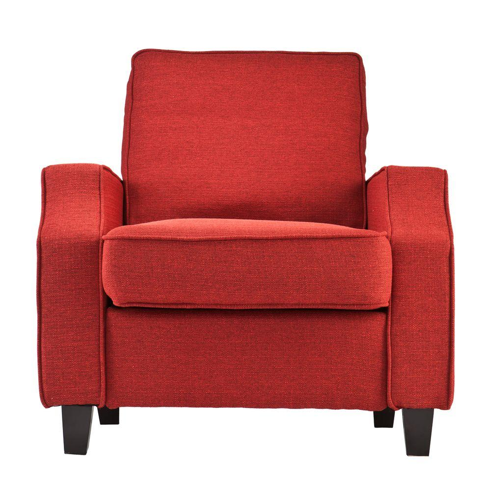 Southern Enterprises Kabira Cherry Red Polyester Upholstered Arm Chair