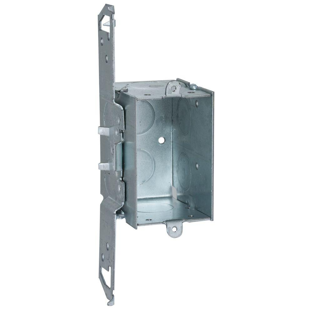 RACO 2-1/2 in. Deep Gangable Switch Box with 1/2 and 3/4 in. KO's and TS Bracket Set Back 1/2 in. (50-Pack)