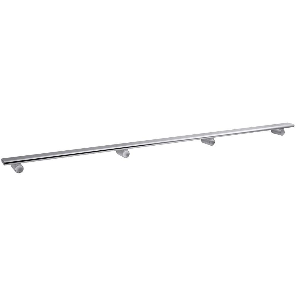 KOHLER Choreograph 54 in. Shower Barre in Bright Polished Silver-K-97628-SHP -