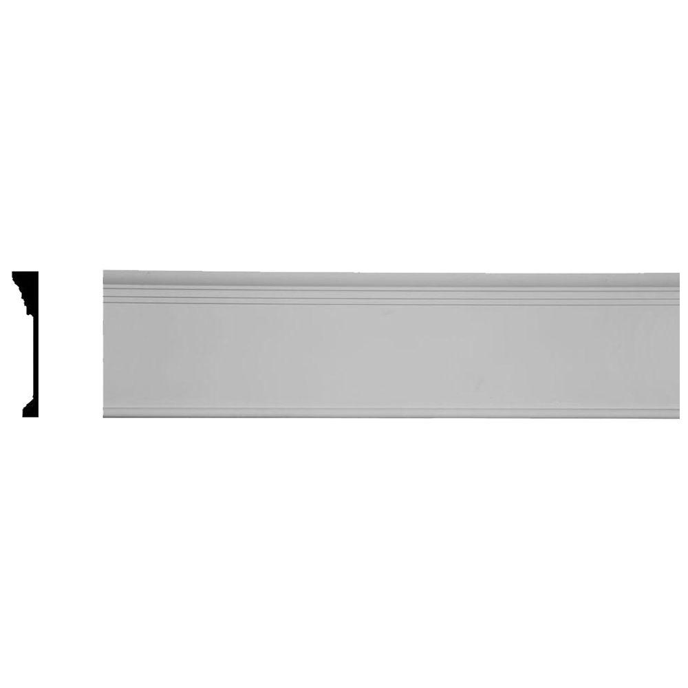 1-1/8 in. x 7-3/4 in. x 96 in. Polyurethane Odessa Panel