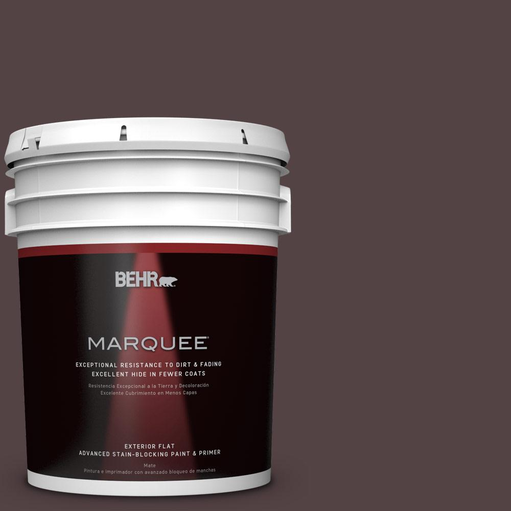 BEHR MARQUEE 5-gal. #PPU1-1 Folklore Flat Exterior Paint-445305 - The Home