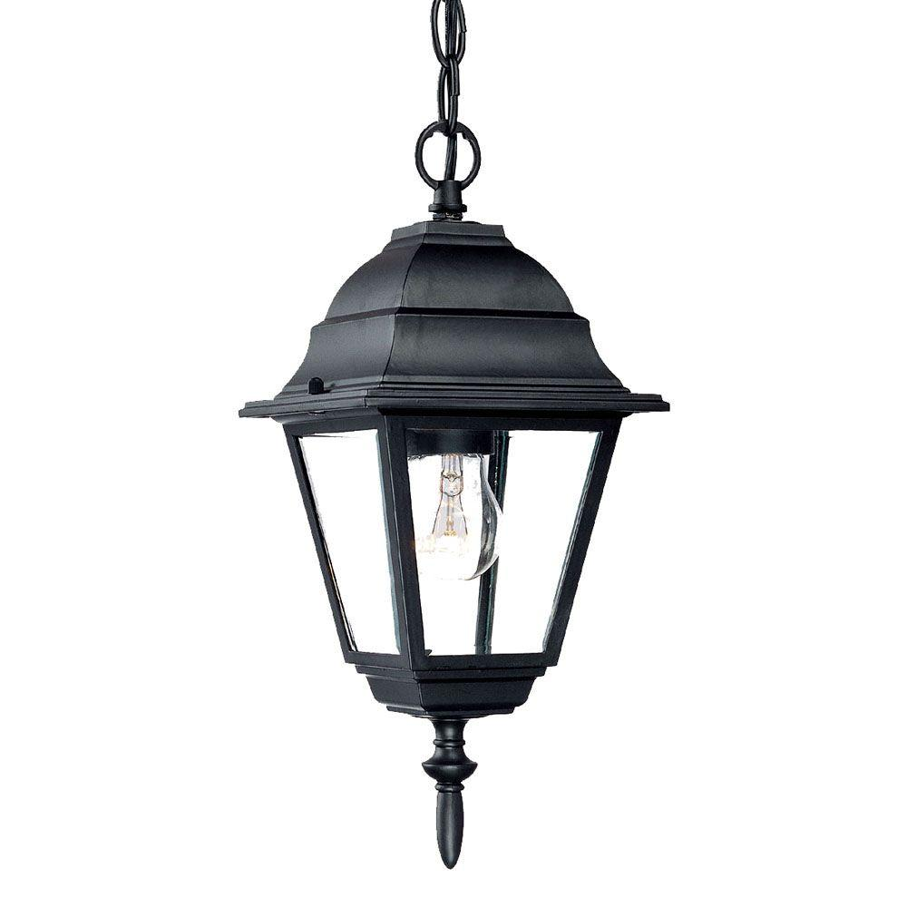 Acclaim Lighting Builder's Choice Collection 1-Light Outdoor Matte Black Hanging Lantern