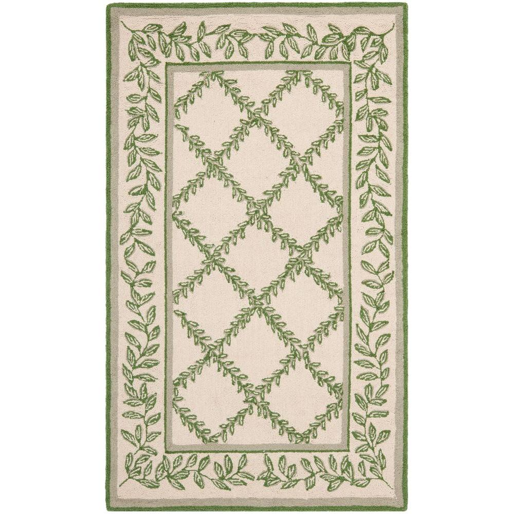 Chelsea Ivory/Light Green 2 ft. 9 in. x 4 ft. 9 in. Area Rug