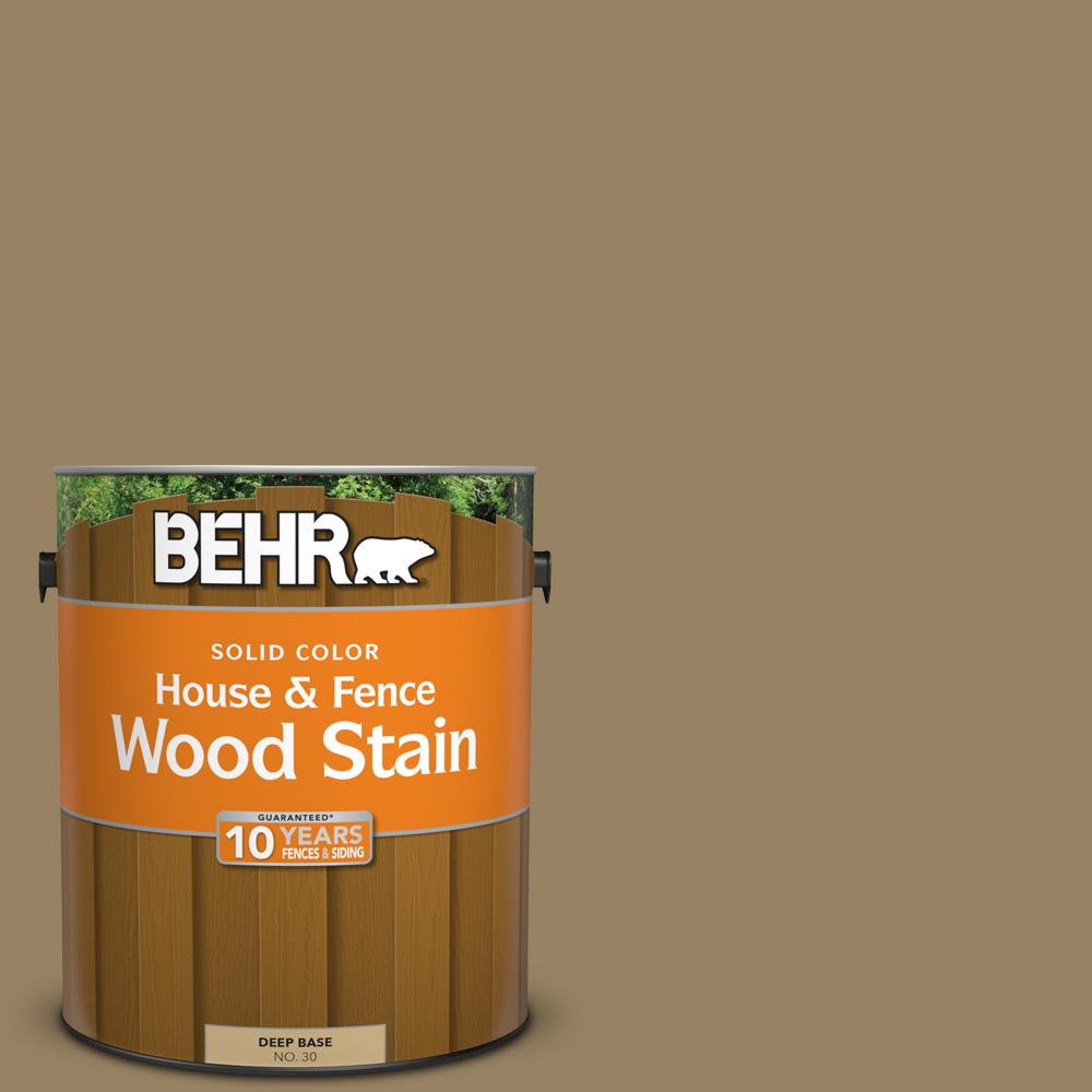 BEHR 1 gal. #SC-121 Sandal Solid Color House and Fence Wood Stain