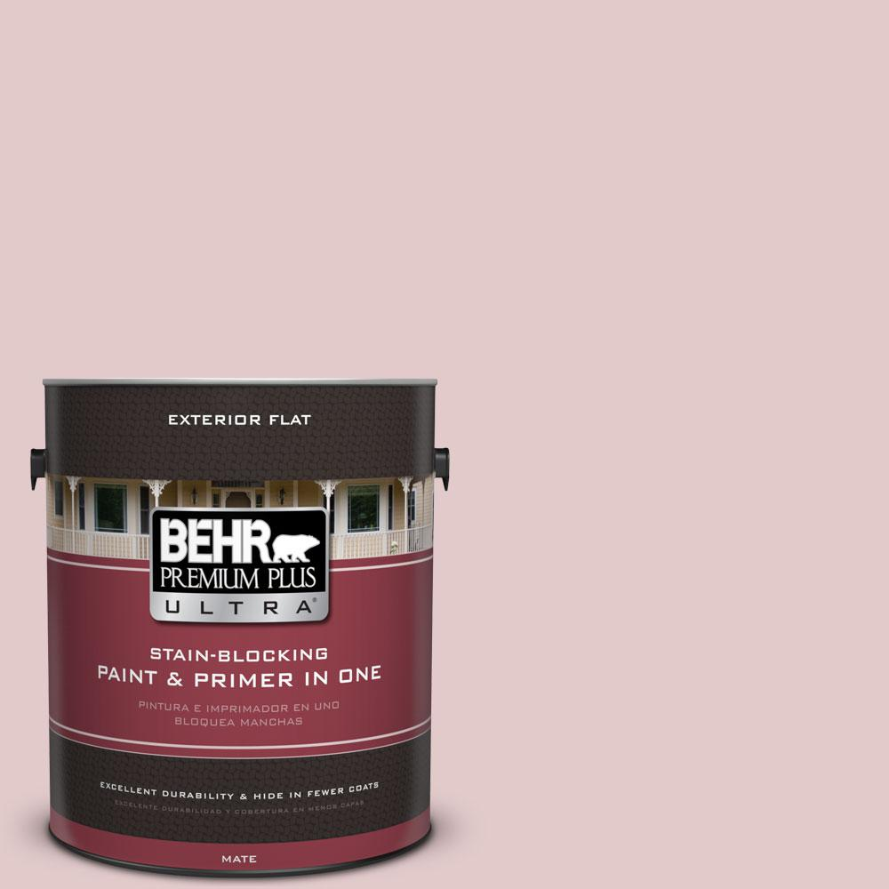1-gal. #160E-2 Pink Water Flat Exterior Paint