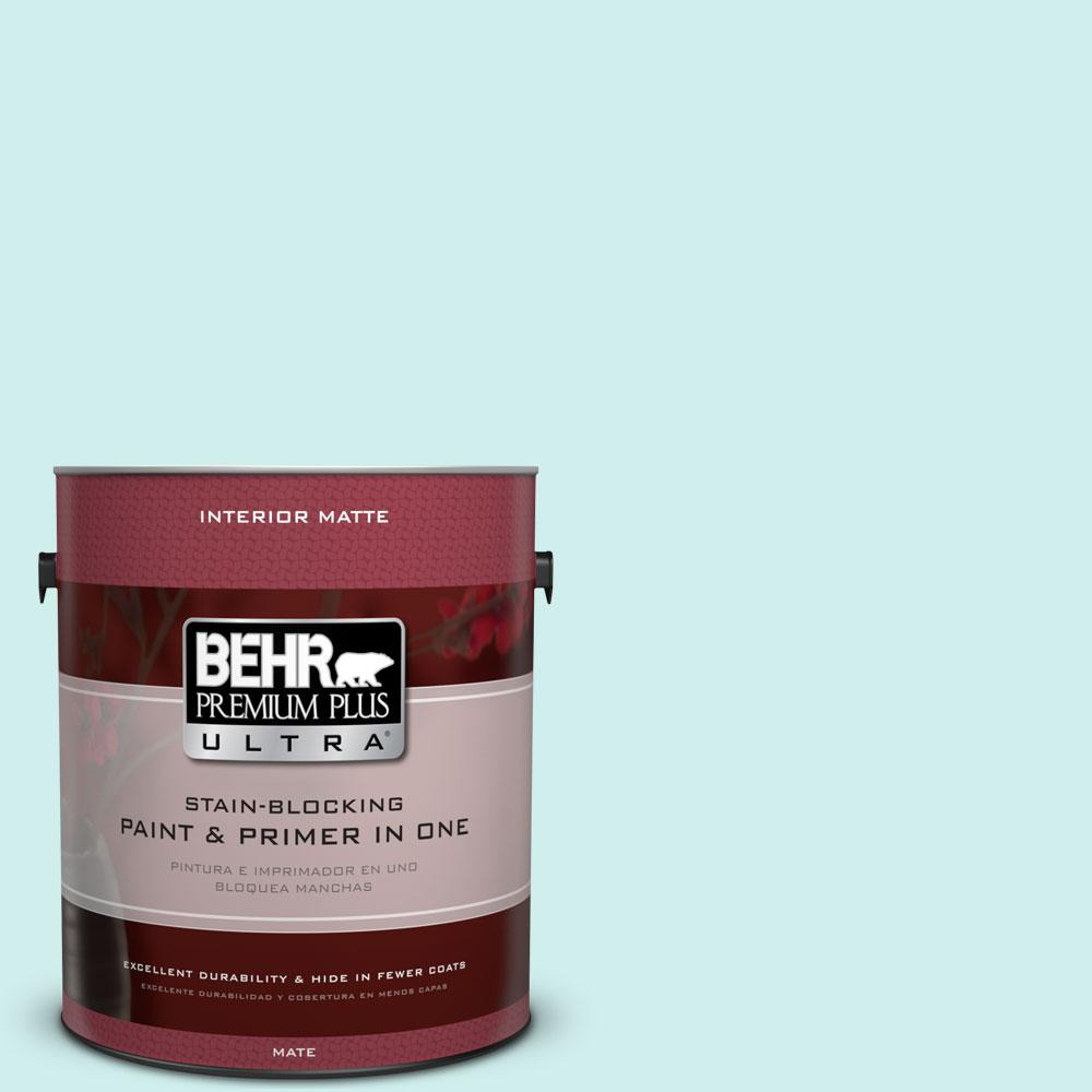 1 gal. #490A-1 Teal Ice Flat/Matte Interior Paint