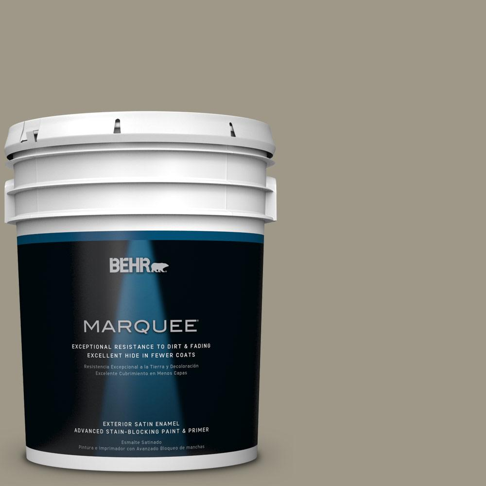 BEHR MARQUEE 5-gal. #PPU8-20 Dusty Olive Satin Enamel Exterior Paint-945405 -