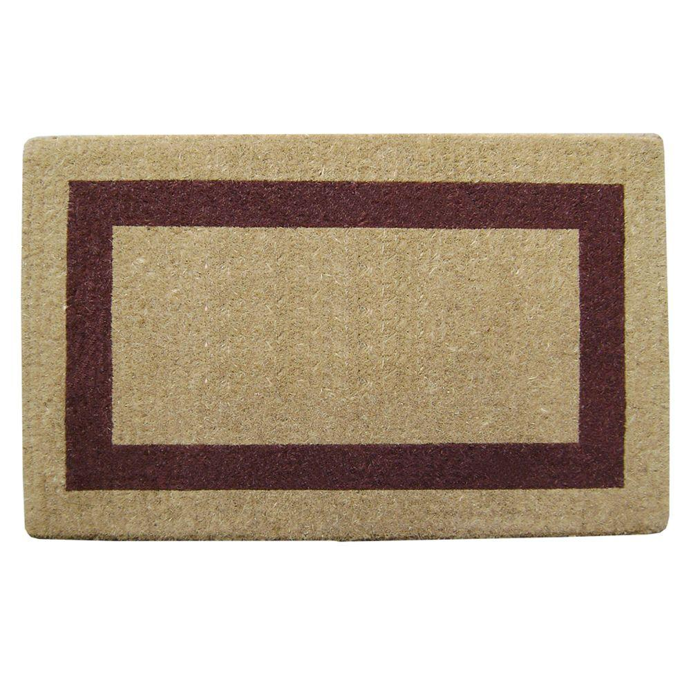 Single Picture Frame Brown 22 in. x 36 in. HeavyDuty Coir