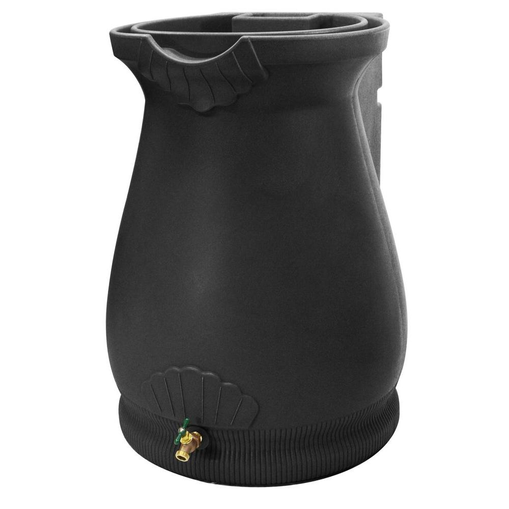 Rain Wizard 65 Gal. Black Urn-RWURN-BLK - The Home Depot
