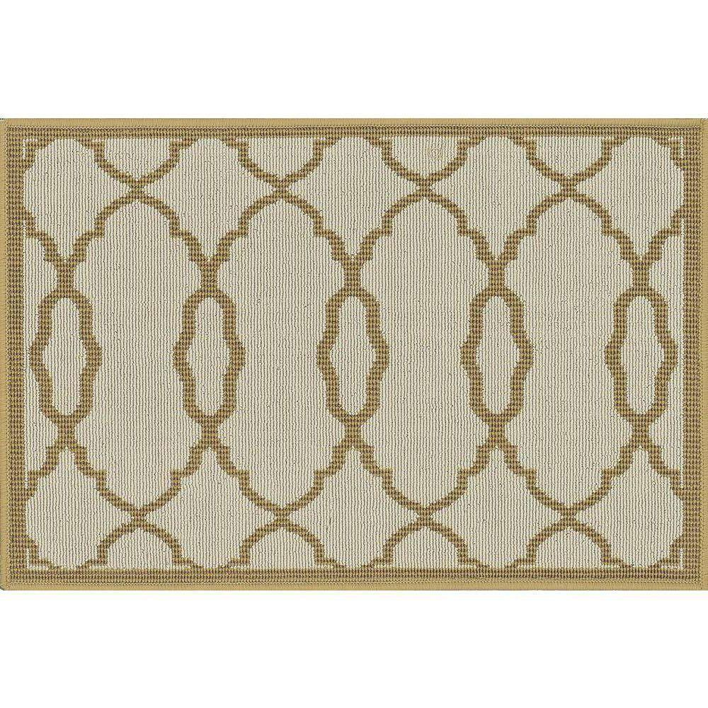 Loloi Rugs Augusta Lifestyle Collection Ivory 1 ft. 9 in. x 2 ft. 9 in. Accent Rug-DISCONTINUED