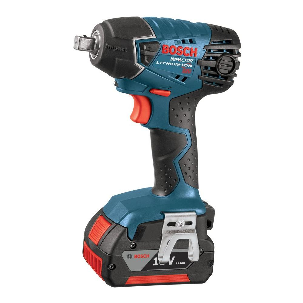 Bosch 18-Volt Lithium-Ion 1/2 in. Impact Wrench Kit with (2) 4.0Ah Battery