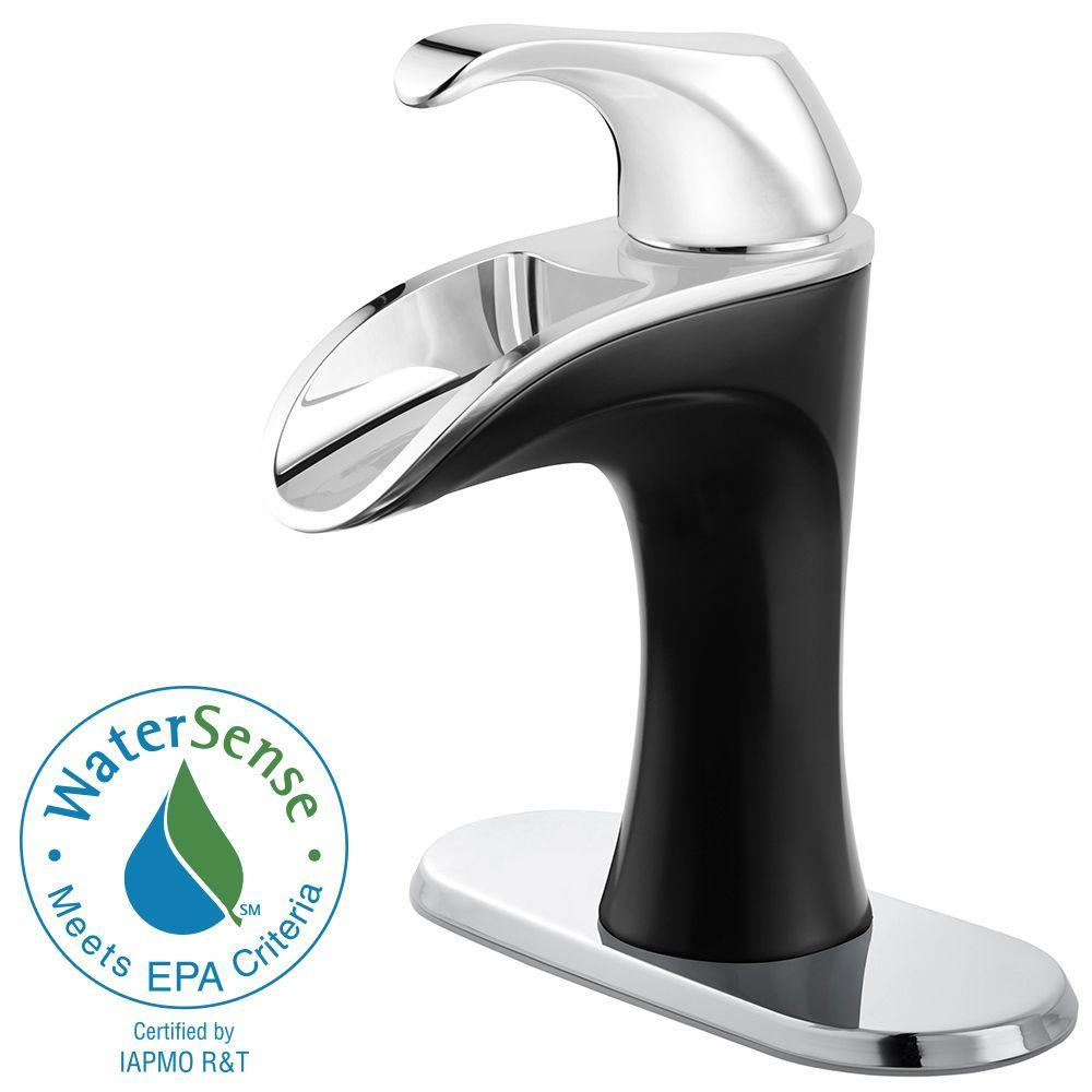 Pfister Brea 4 in. Centerset 1-Handle Bathroom Faucet in Chrome and