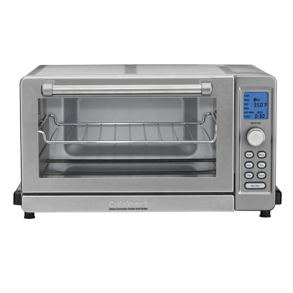 Cuisinart Toaster Ovens Deluxe Convection Toaster Oven Broiler in Silver Stainless TOB-135