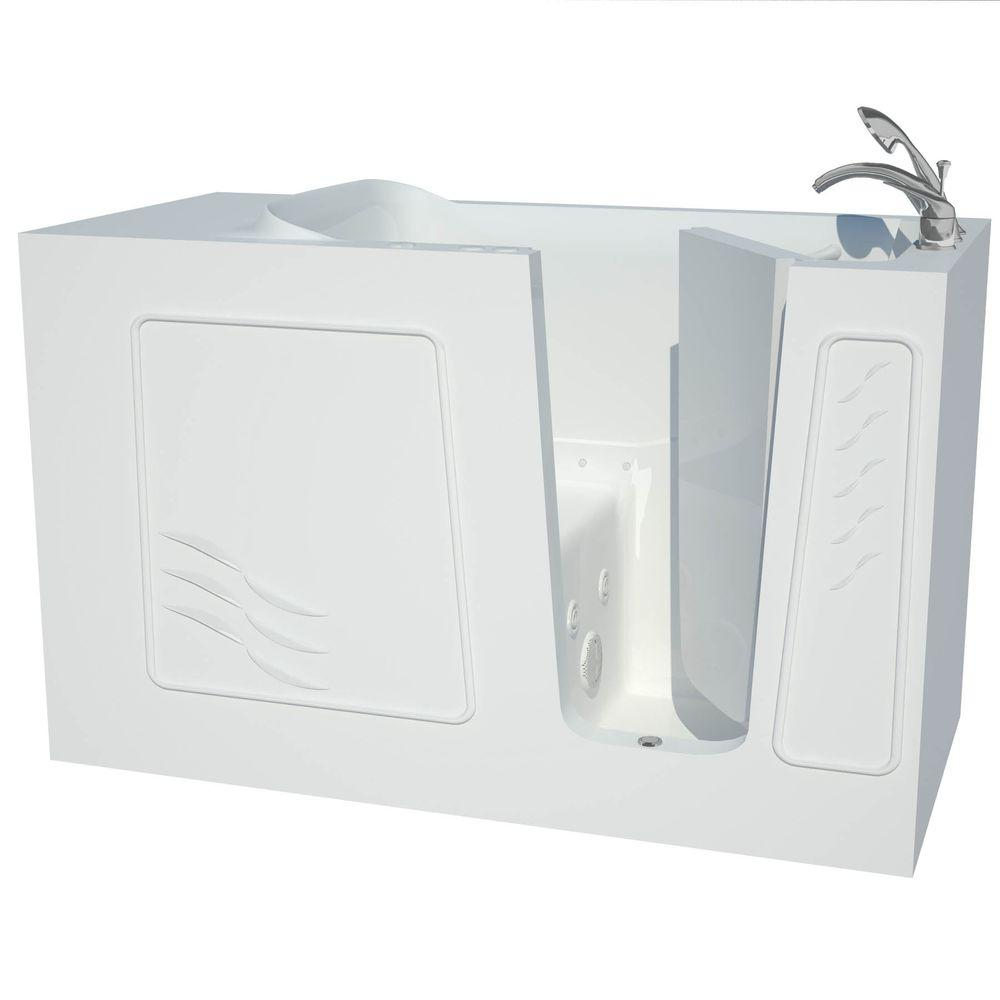 Contractor Series 5 ft. Right Drain Whirlpool and Air Walk-In Bathtub