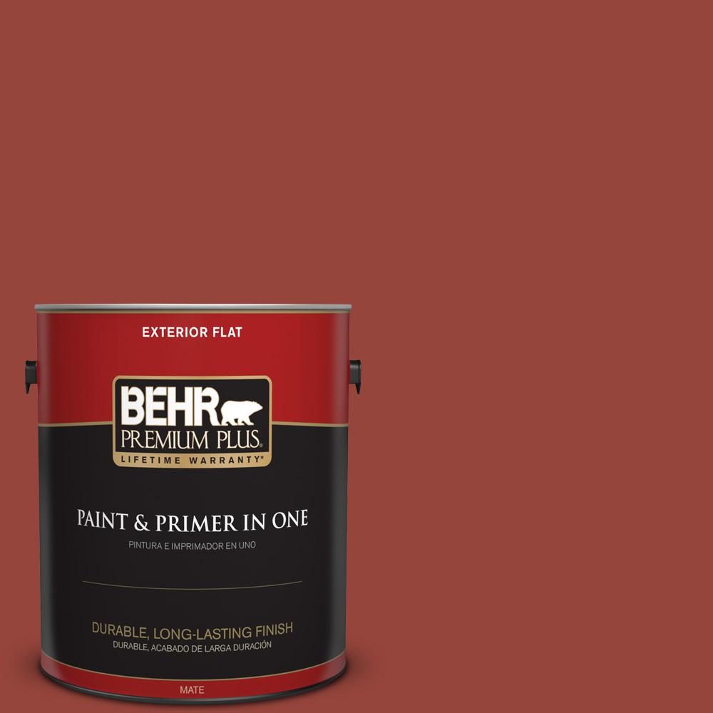 1 gal. #PPU2-17 Morocco Red Flat Exterior Paint