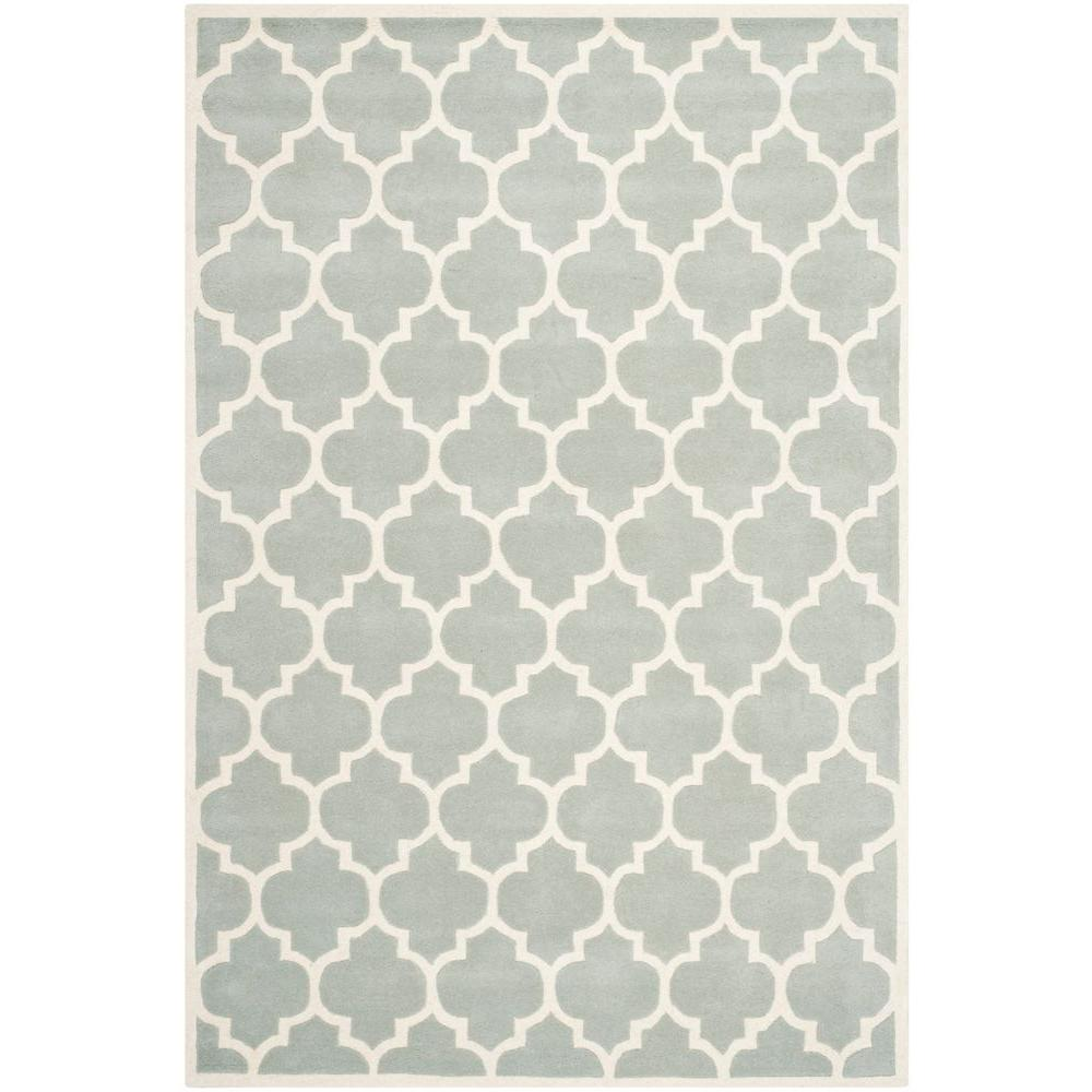 Safavieh Chatham Grey/Ivory 5 ft. x 8 ft. Area Rug-CHT734E-5 -