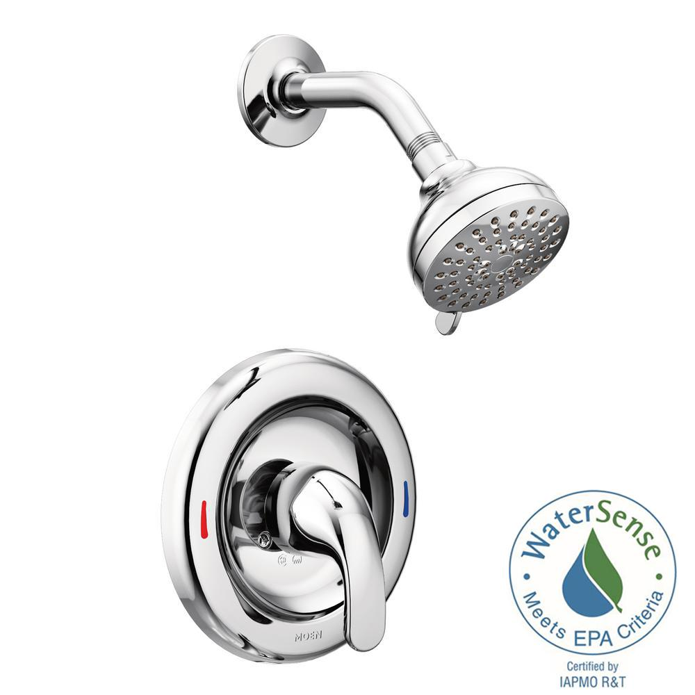 Adler 1 Handle 1 Spray Shower Faucet With Valve In Chrome