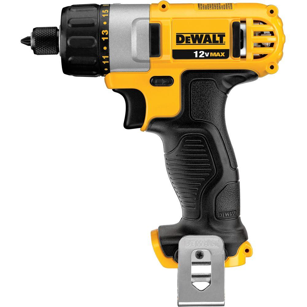 DEWALT 12-Volt Max Lithium-Ion 1/4 in. Cordless Screwdriver-DCF610B - The Home