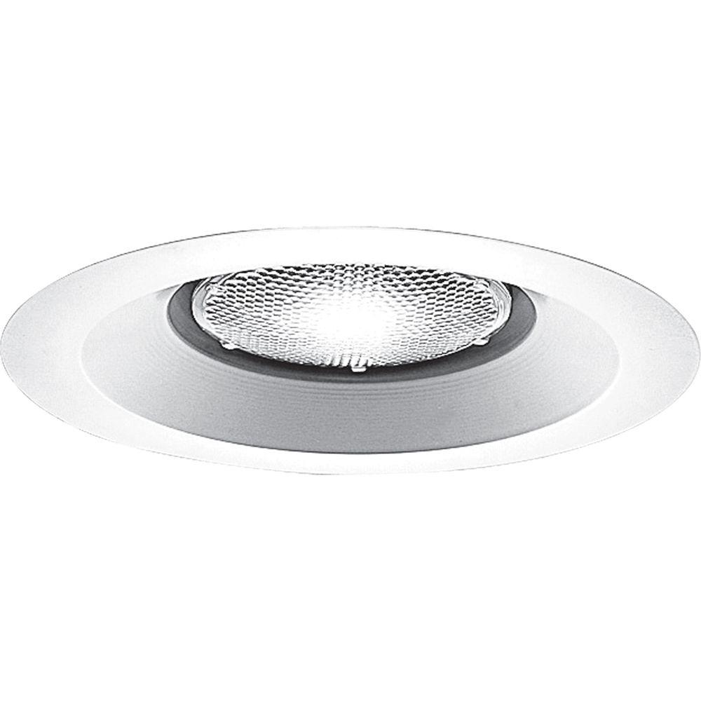 Progress Lighting 6 in. White Open Trim for Shallow Recessed Housings