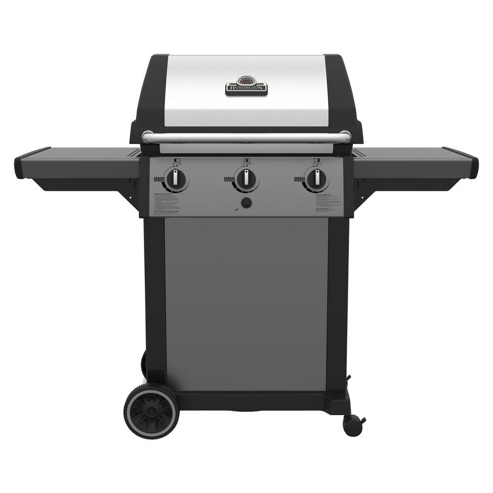 Huntington evolution 4200 3 burner propane gas grill 696454 the home depot - Home depot bbq propane ...