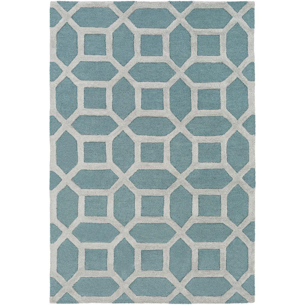Arise Evie Light Blue 8 ft. x 11 ft. Indoor Area