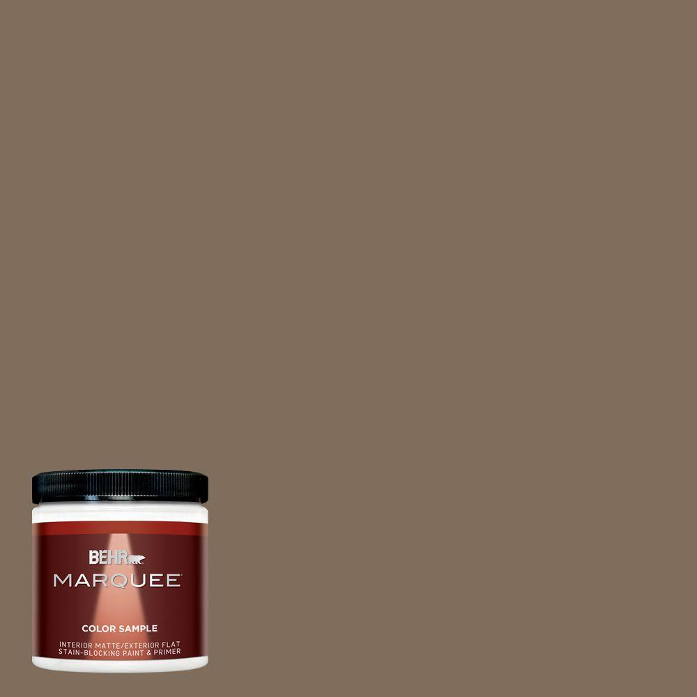 BEHR MARQUEE 8 oz. #MQ2-49 Kaffee Interior/Exterior Paint Sample-MQ30316 - The