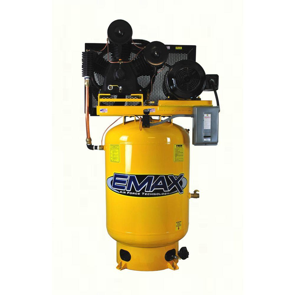 EMAX Industrial PLUS Series 120 Gal. 15 HP 3-Phase 2-Stage Stationary