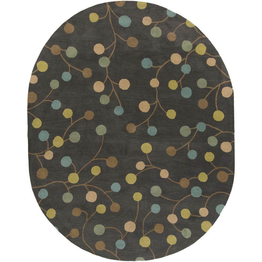 Amicia Gray 8 ft. x 10 ft. Oval Indoor Area Rug