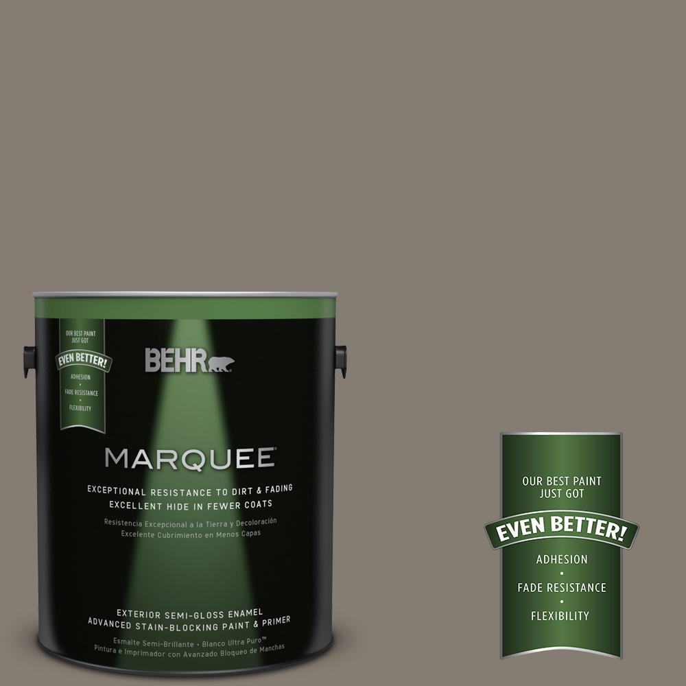 BEHR MARQUEE 1-gal. #MQ2-53 Smoky Trout Semi-Gloss Enamel Exterior Paint