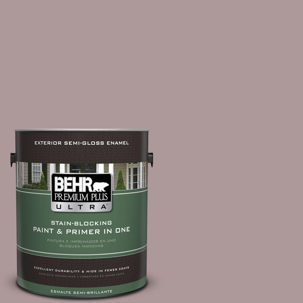 1-gal. #110F-4 Heirloom Orchid Semi-Gloss Enamel Exterior Paint