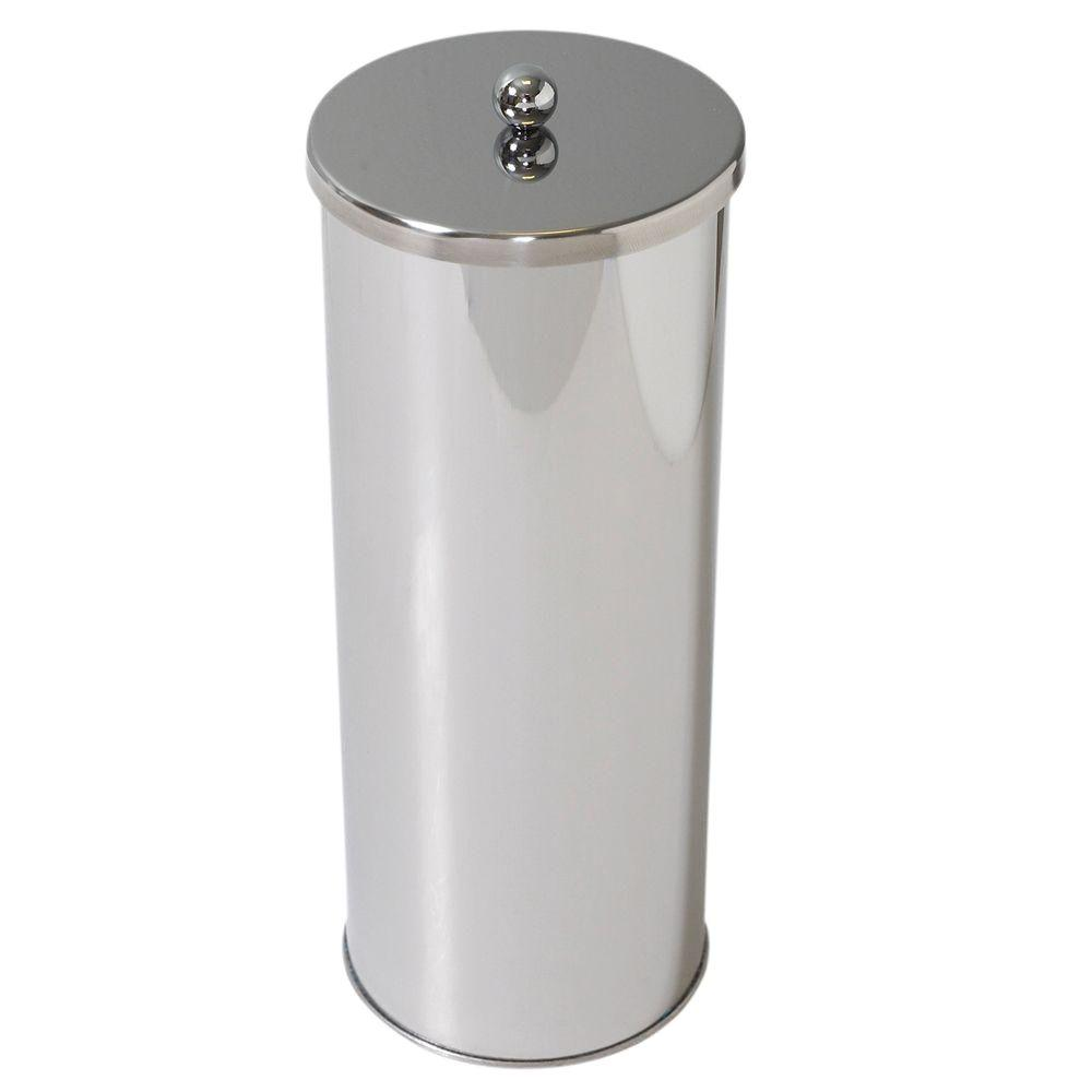 Zenna Home Toilet Paper Holder Canister in Polished Chrome