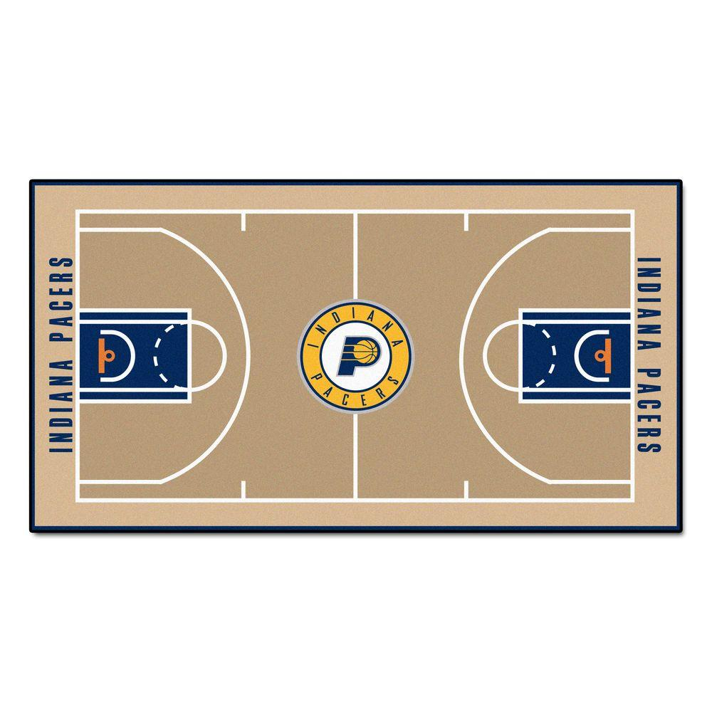 FANMATS NBA Indiana Pacers 2 ft. 6 in. x 4 ft. 6 in. Large Court Runner