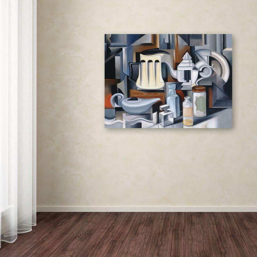 35 in. x 47 in. Still Life with Teapots Canvas Art