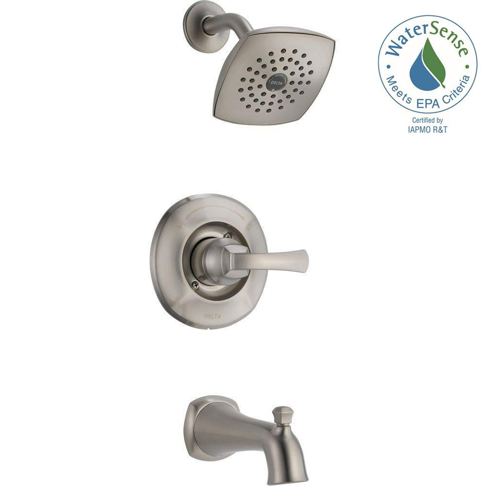 Delta Mandara Single-Handle 1-Spray Tub and Shower Faucet in Stainless
