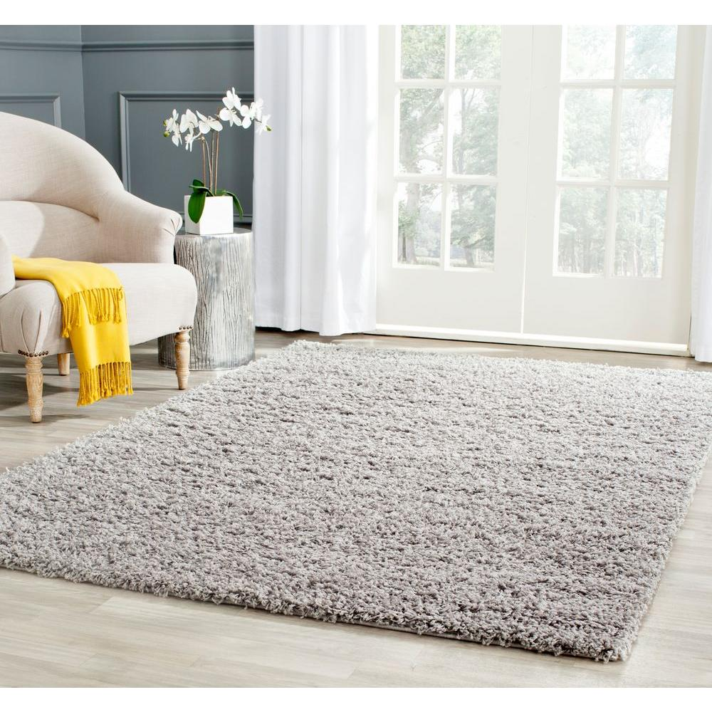 athens shag light gray 8 ft x 10 ft area rug