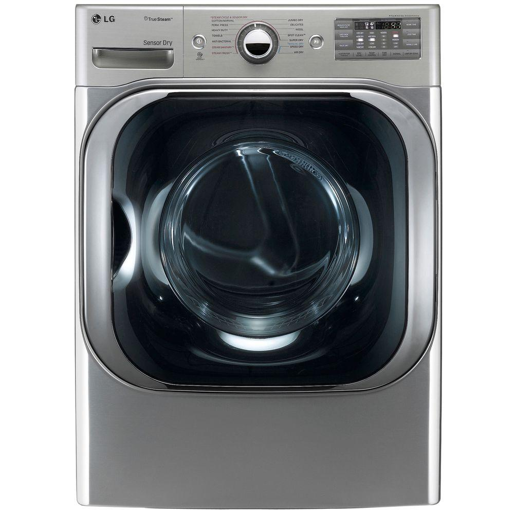 LG Electronics 9.0 cu. ft. Electric Dryer with Steam in Graphite Steel