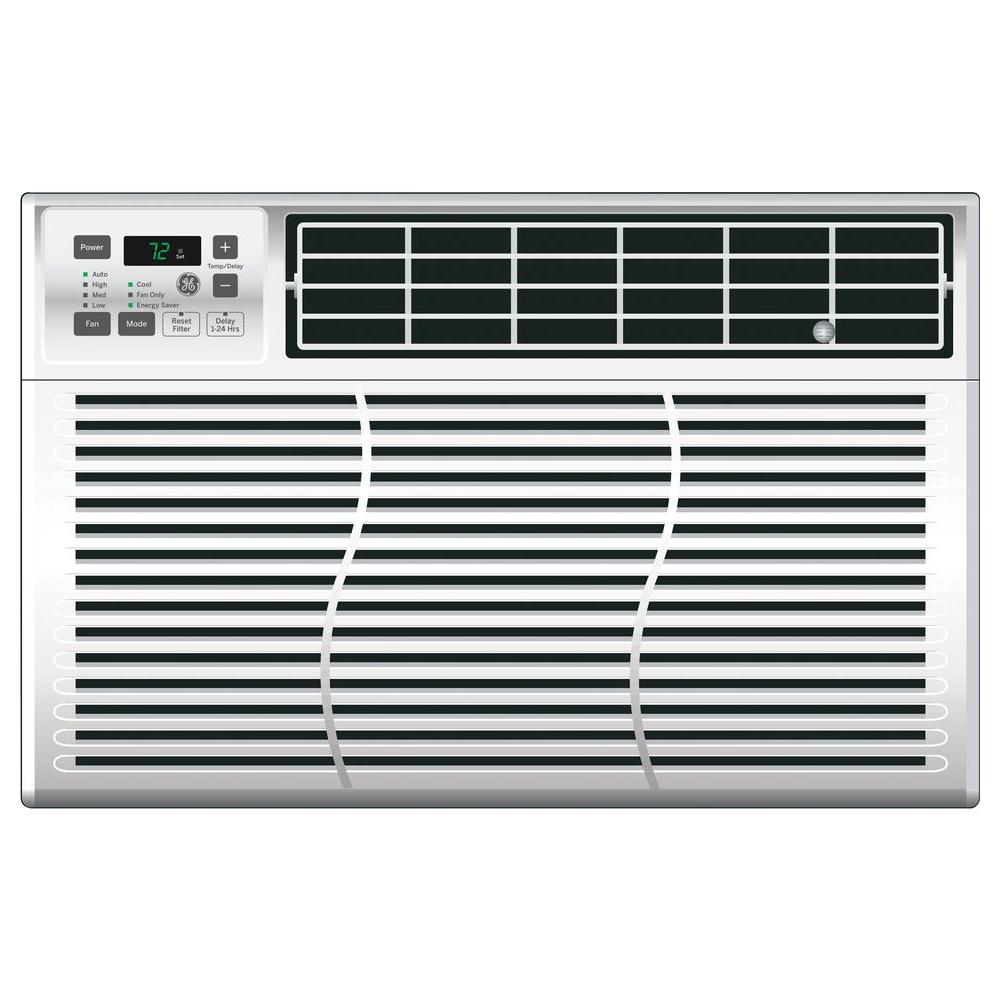 GE  BTU Volt Electronic Room Window Air Conditioner - Home depot small air conditioner