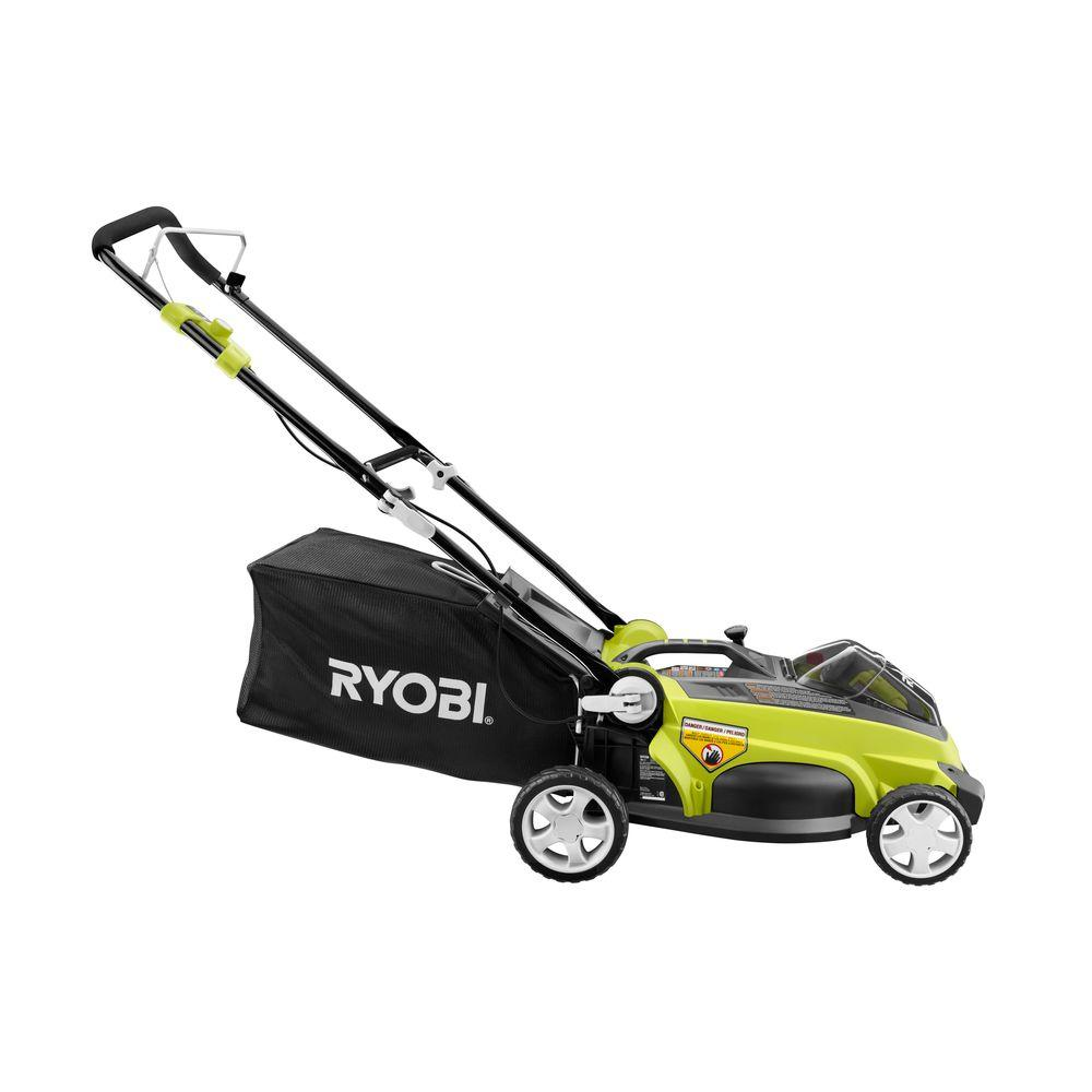 Ryobi Lawn Mowers 16 in. 40-Volt Lithium-ion Cordless Walk-Behind Lawn Mower with 2 Batteries RY40112A