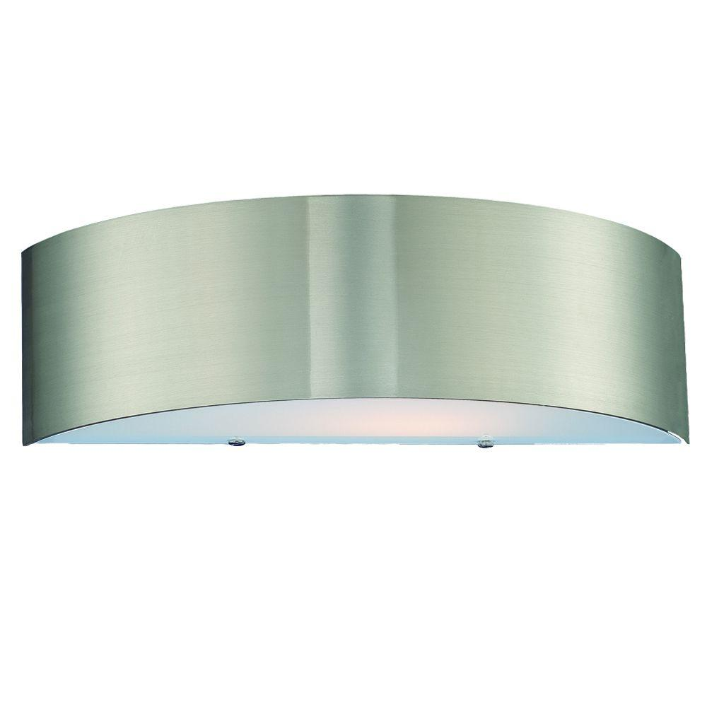 Eurofase Dervish Collection 2-Light Satin Nickel Wall Sconce
