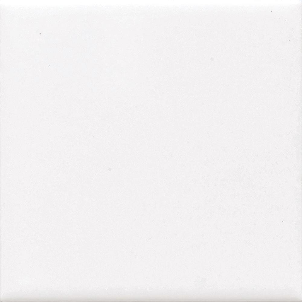 Finesse Bright White 6 in. x 6 in. Ceramic Wall Tile