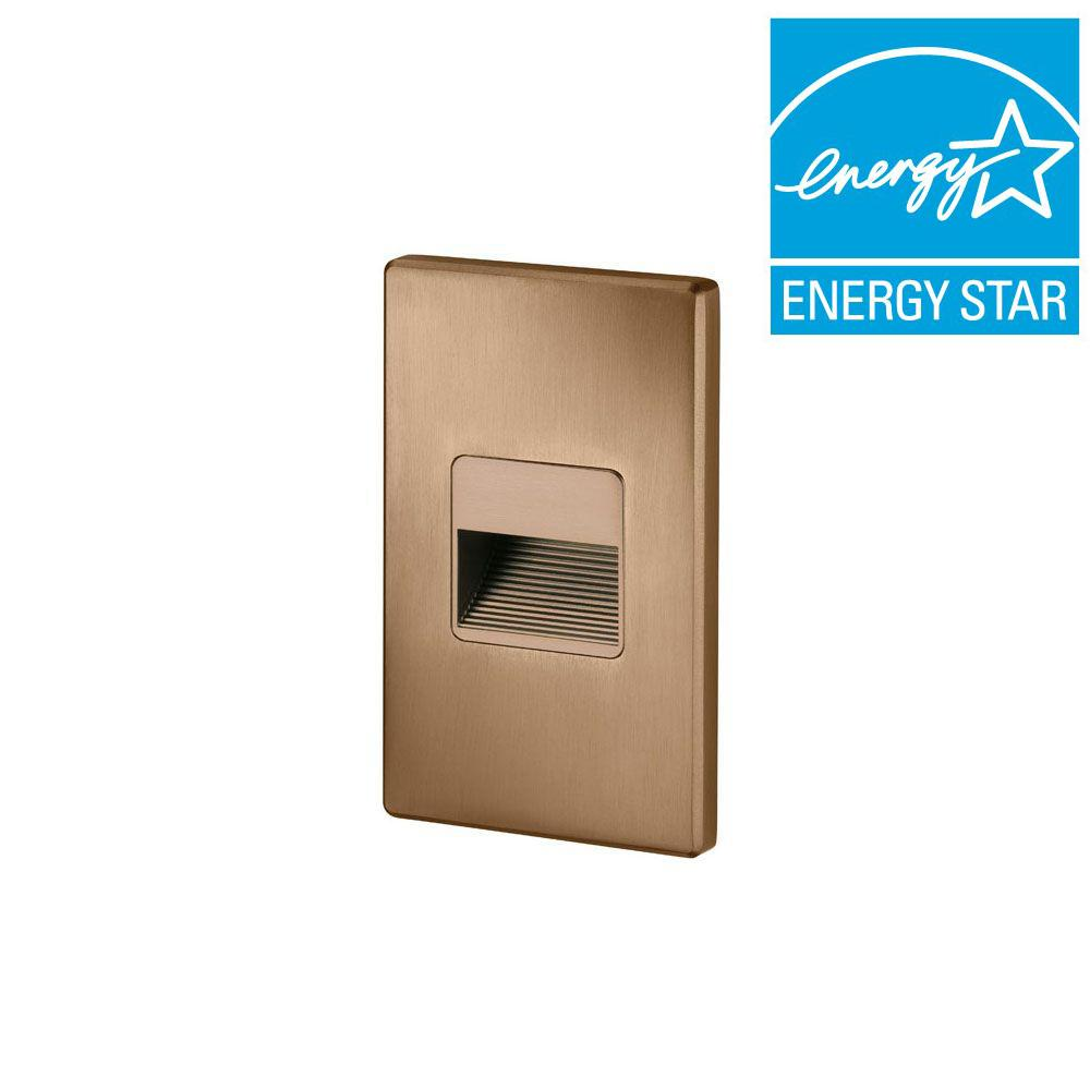 Juno 1.875 in. Bronze Recessed LED Cutoff Mini Step Light with 3000K