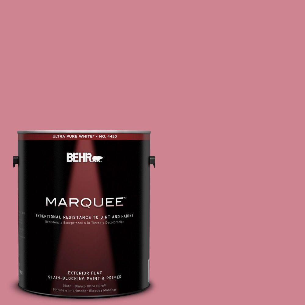BEHR MARQUEE 1-gal. #130D-4 Rose Sachet Flat Exterior Paint-445401 - The