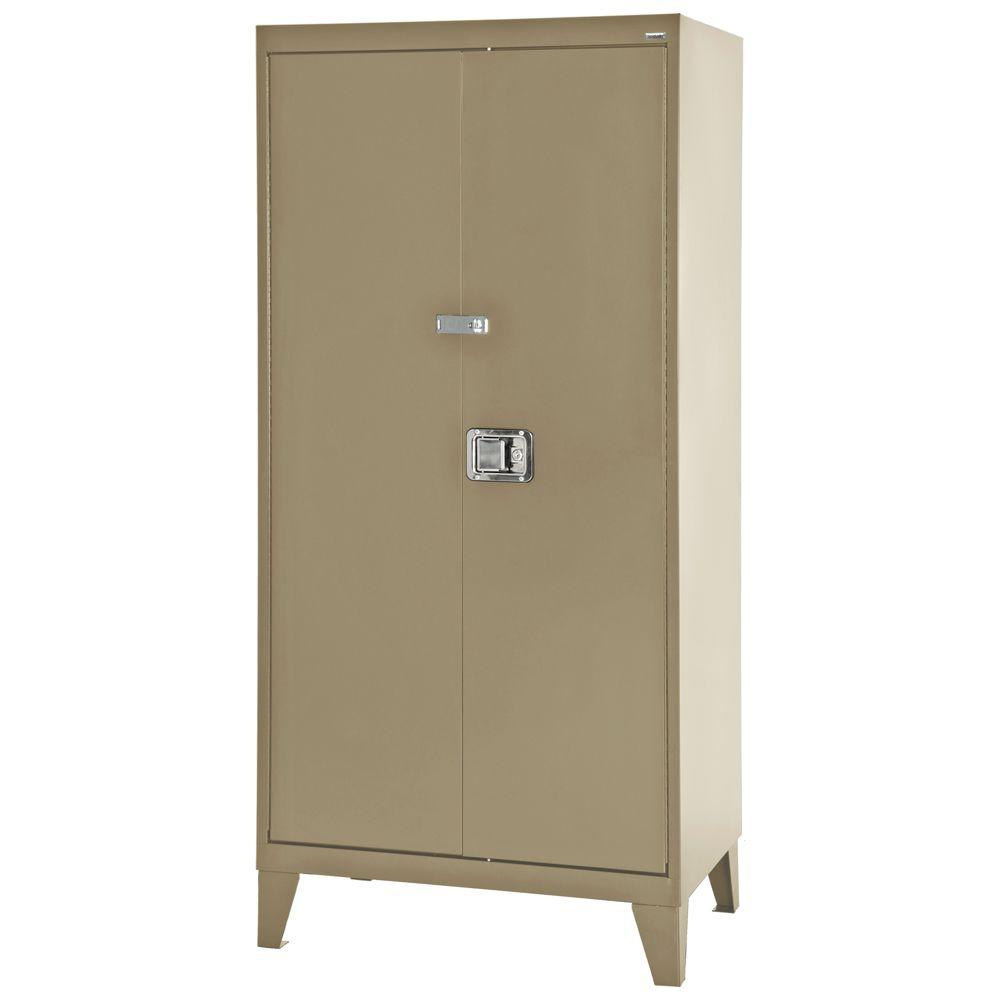 null 79 in. H x 36 in. W x 24 in. D Freestanding Steel Cabinet in Tropic Sand