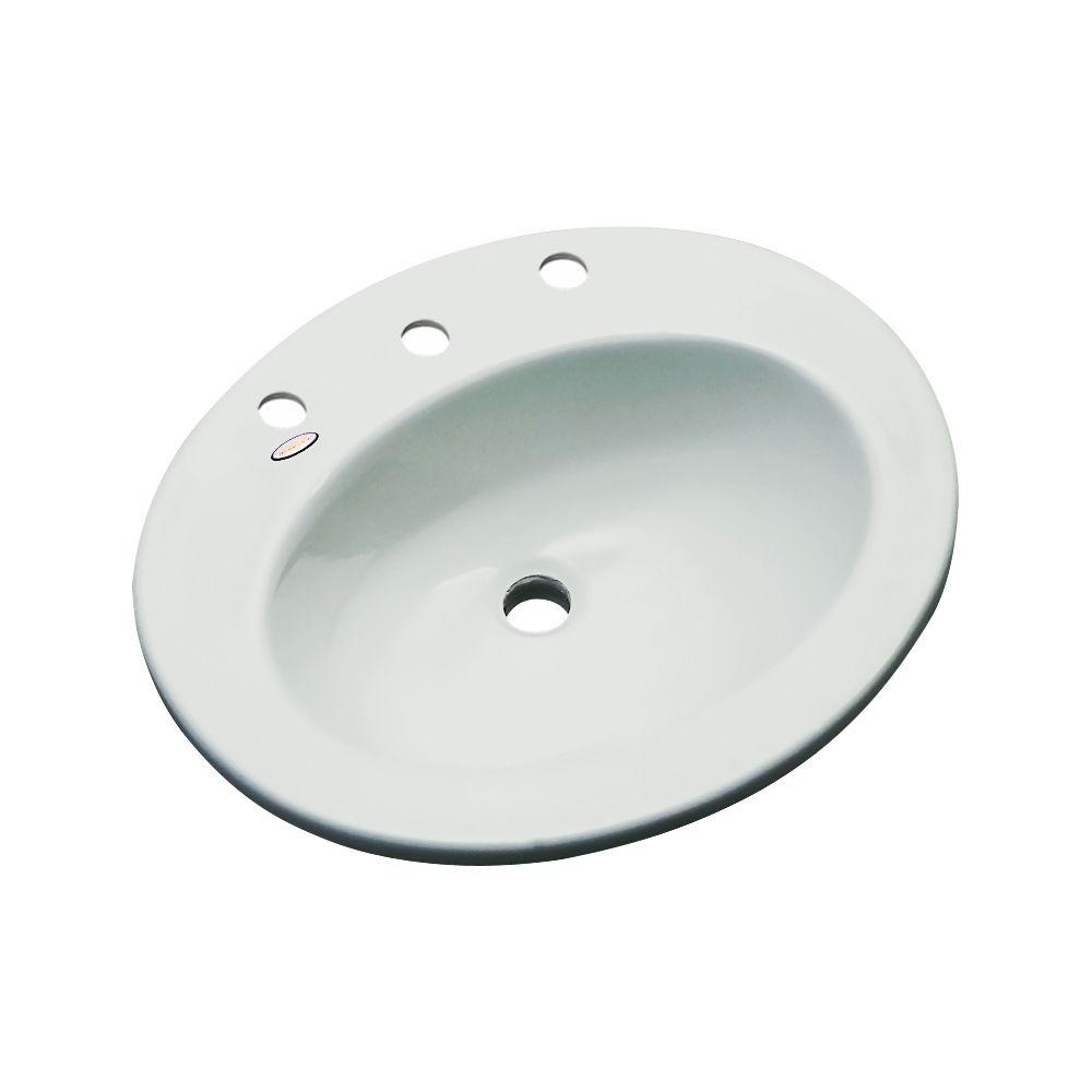 Thermocast Austin Drop-In Bathroom Sink in Sterling Silver-95882 - The Home