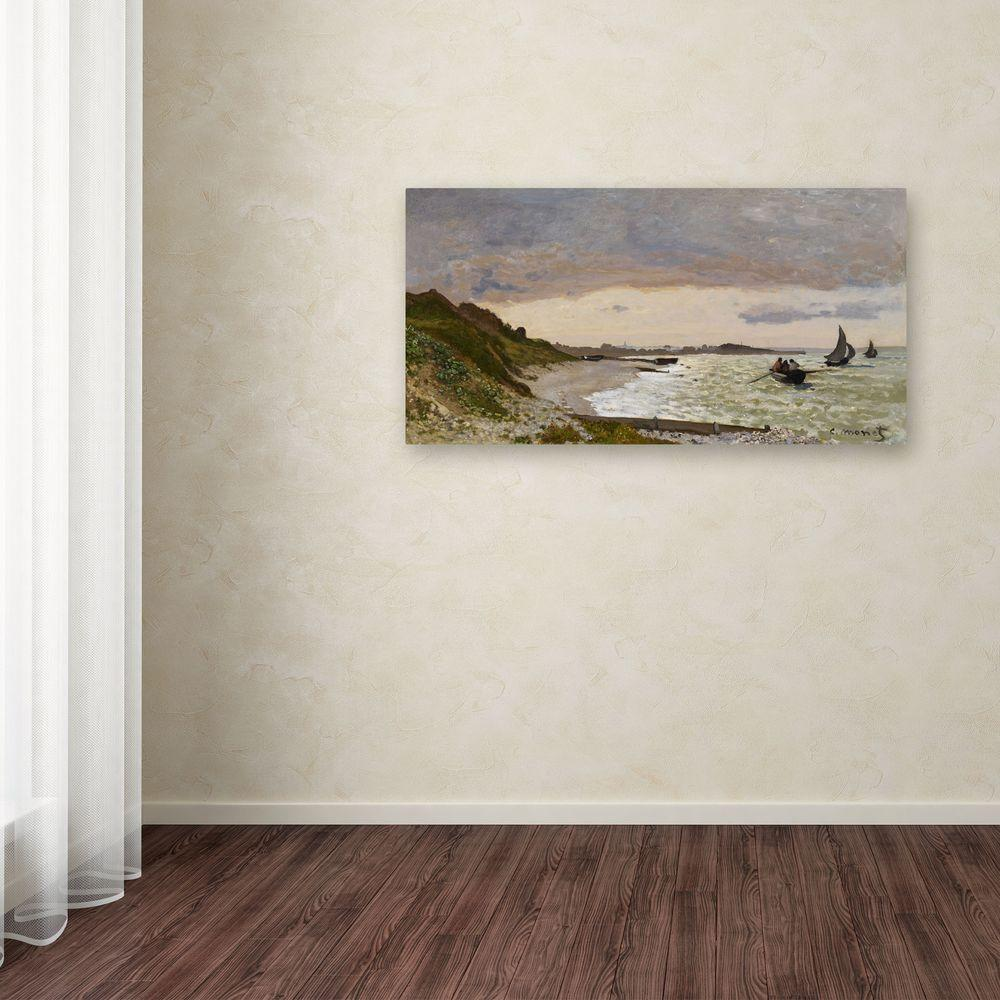 "12 in. x 24 in. ""The Seashore at Sainte-Adresse"" Canvas Art"